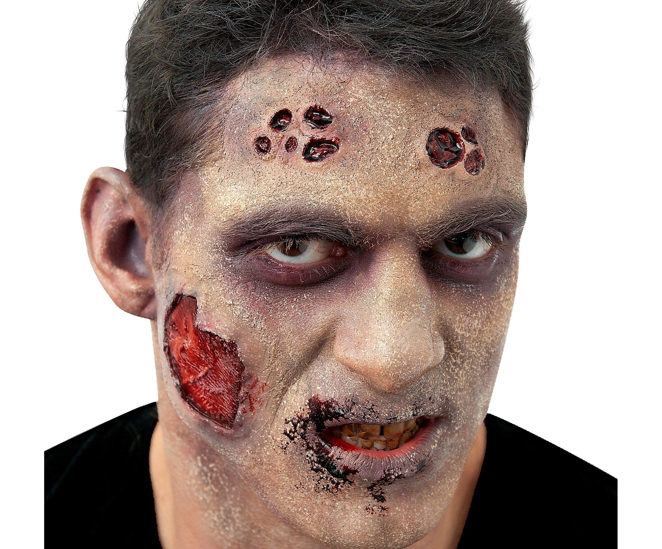 Woochie by Cinema Secrets FX Complete Accessory Makeup Kit - Flesh Eater Zombie, Multi, One Size
