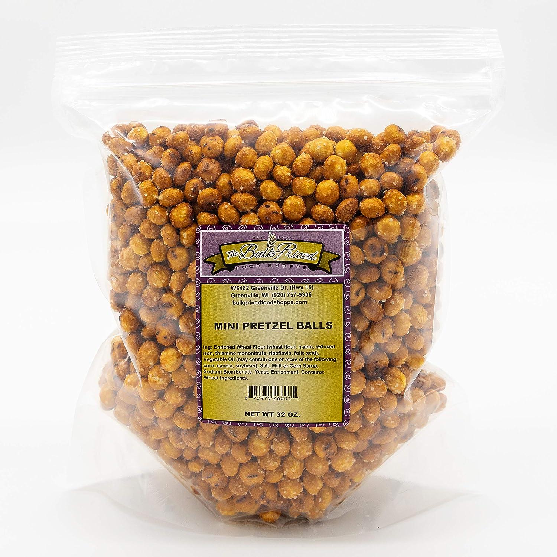 Mini Pretzel Balls, Bulk Size (2 lb. Resealable Zip Lock Stand Up Bag)