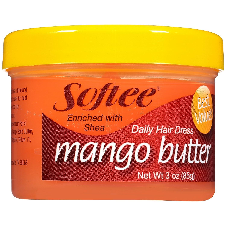Softee Mango Shea Butter Daily Hair Dress, 3 Ounce Jar (1)