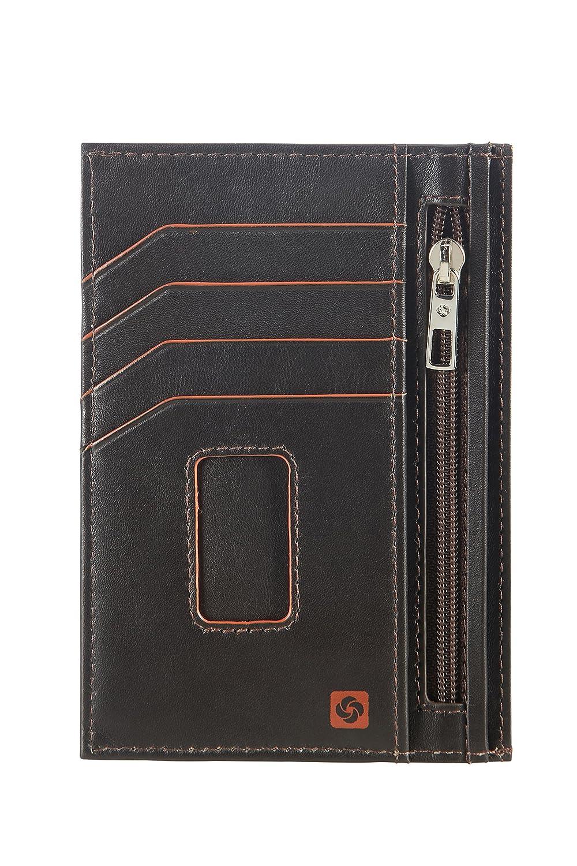 Brown//Orange 0 Liters Marr/ón Card Holder 13 cm All-In-One Wallet Tarjetero