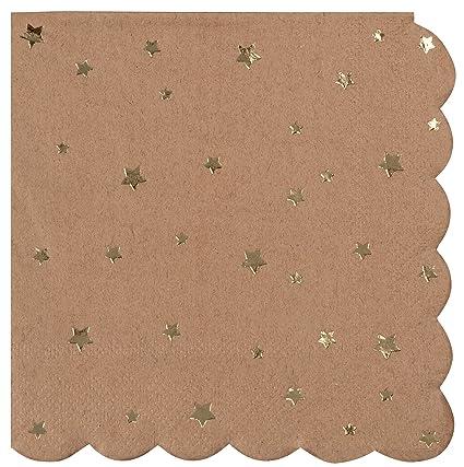 0b54b1cdbb503 Cocktail Napkins - 50-Pack Disposable Kraft Paper Napkins, Rustic Holiday,  Wedding,