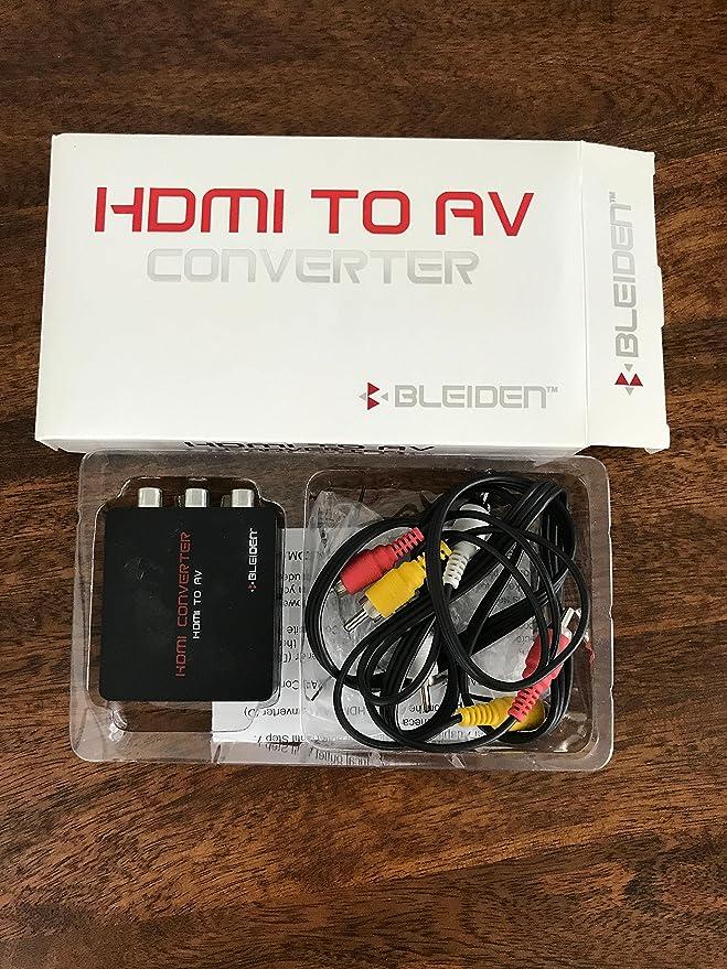 HDMI Converter para google Chromecast: uso Chromecast con televisores antiguos que han compuesto (rojo/blanco/amarillo) entradas. Incluye convertidor, cable adaptador de alimentación y cable de vídeo compuesto.: Amazon.es: Electrónica