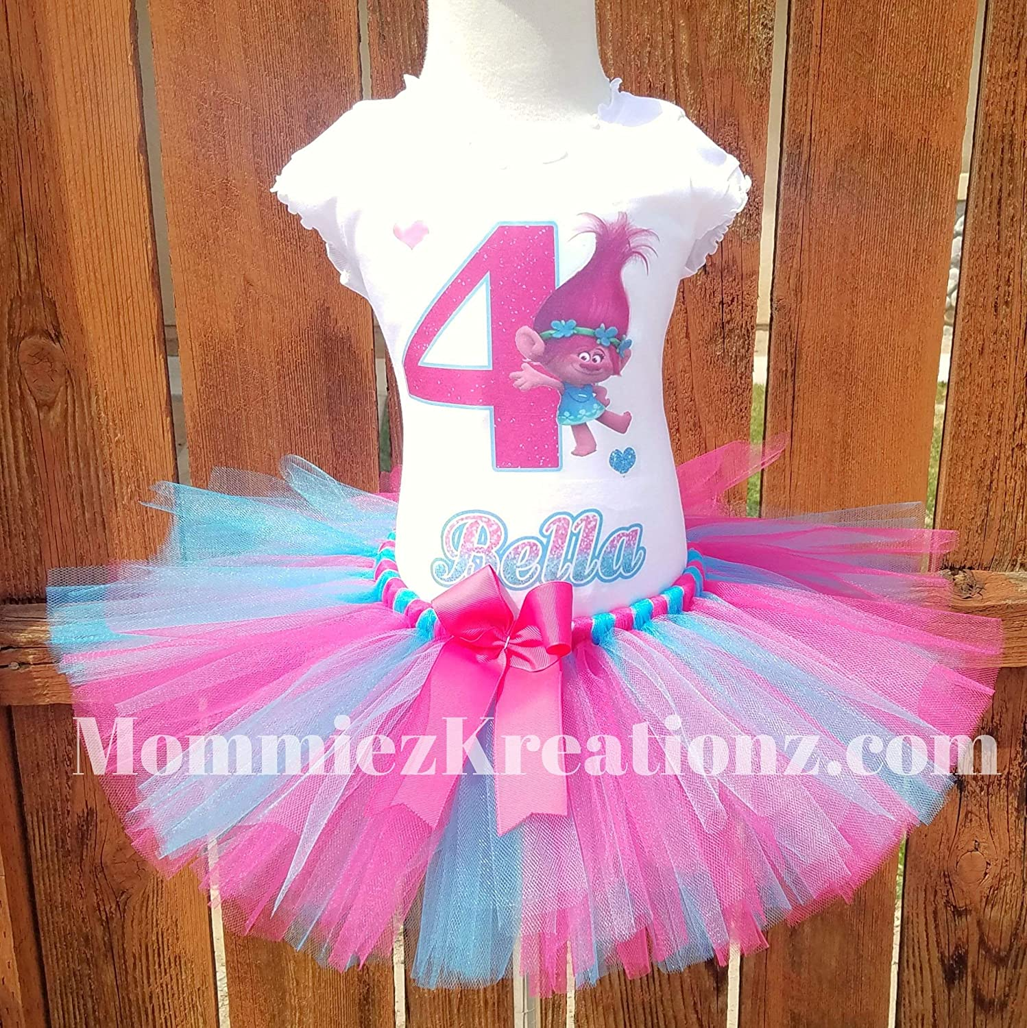 Trolls Poppy Tutu Set, Trolls Birthday Outfit