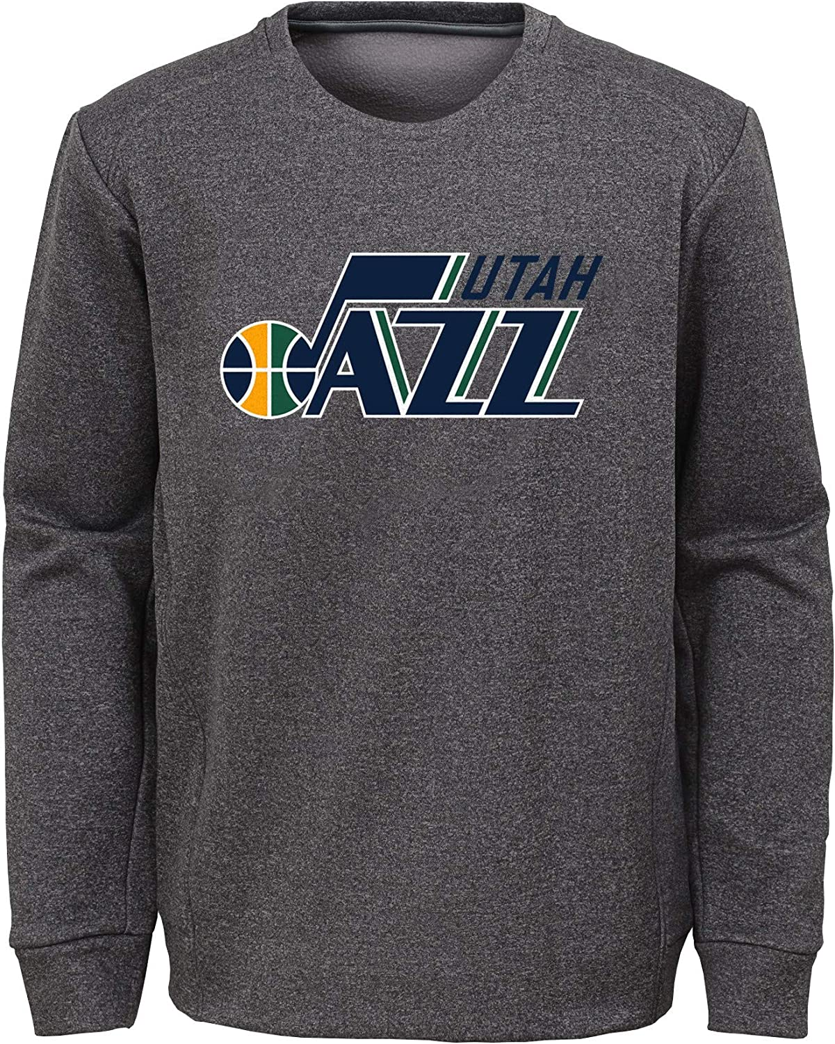 OuterStuff Youth NBA Heathered Gray Fleece Crew Sweatshirt