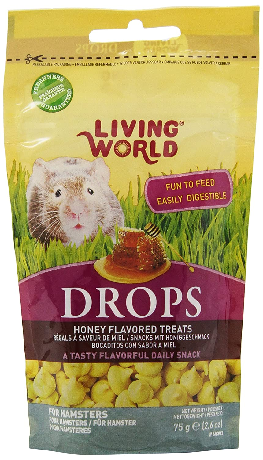 Living World Drops Hamster Treat, 2.6-Ounce, Honey 60302