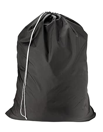 "Amazon.com: Nylon Laundry Bag - Black, 30"" x 40"" - Sturdy rip and ..."