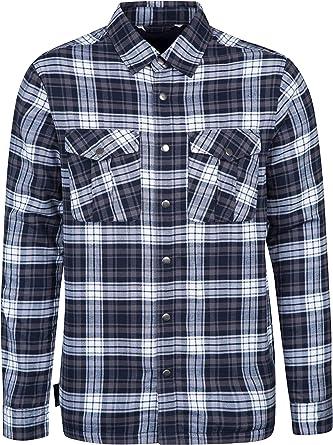 Mountain Warehouse Camisa de Manga Larga con Forro de Franela Valley para Hombre Azul Marino M: Amazon.es: Ropa y accesorios