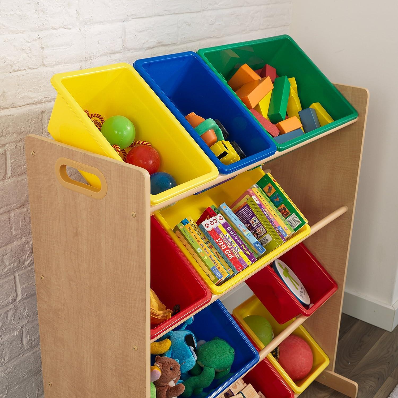 KidKraft 16774 Estantería infantil Sort It and Store It con 12 contenedores para almacenaje, muebles para salas de juego y dormitorio de niños - ...