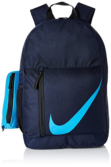 sale retailer 3172d 9e926 Nike 25 Ltrs Obsidian Black Equator Blue School Backpack (BA5405-452)