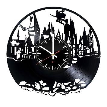 Magische Schule Entwurf Vinyl   Schallplatte Wanduhr U2013 Einzigartige  Schlafzimmer Wanddeko U2013 Geschenk Ideen Für Jungen