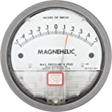 Dwyer Magnehelic Series 2000 Differential Pressure Gauge, Range 0.5-0-0.5'WC