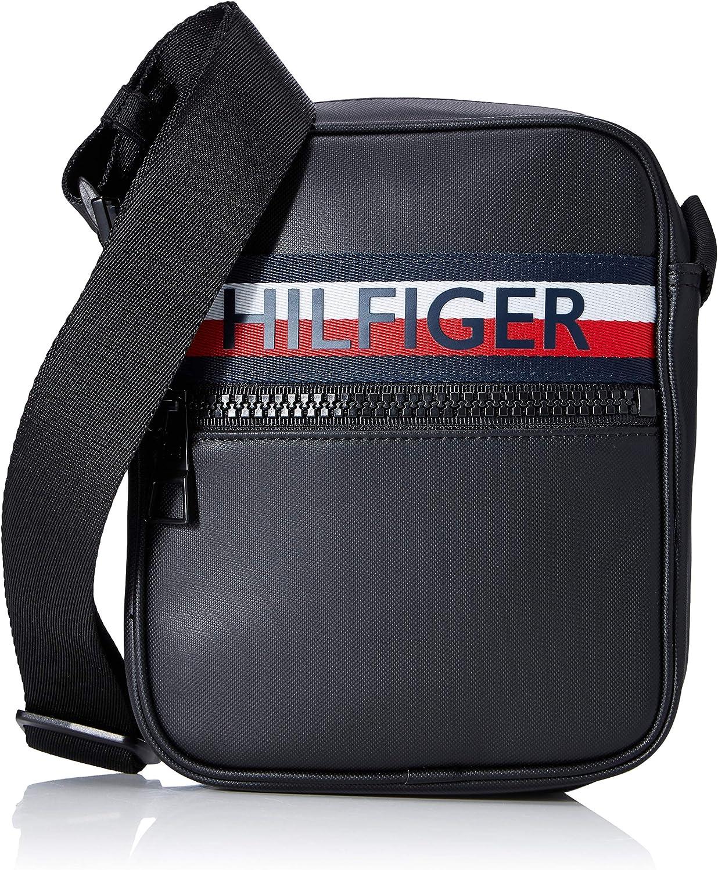 Tommy Hilfiger - Urban Pu Mini Reporter, Organizadores de bolsos Hombre, Negro (Black), 0.1x0.1x0.1 cm (W x H L)