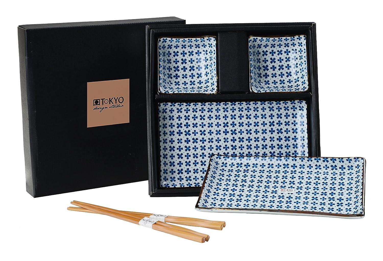 TOKYO design studio para Sushi Porcelana Azul//white21/X 13,5/cm