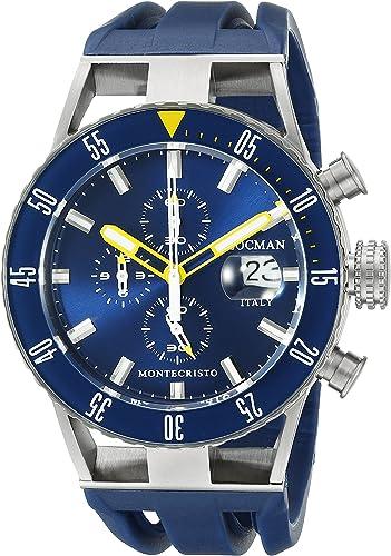 Locman italia da uomo 051200byblnksib montecristo professional divers cronografo orologio analogico display