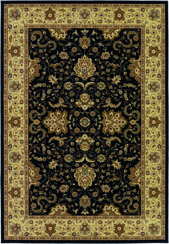 Amazon Com Couristan Izmir Floral Bijar Black Area Rug 9 2 X 12 6 Furniture Decor