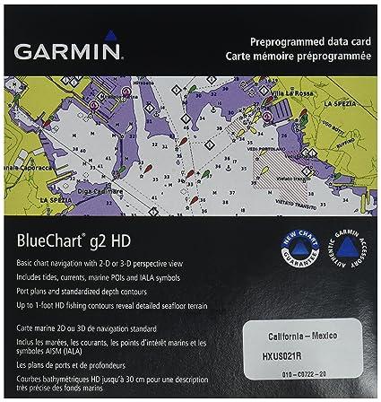 Amazoncom Garmin BlueChart g2 CaliforniaMexico Saltwater Map
