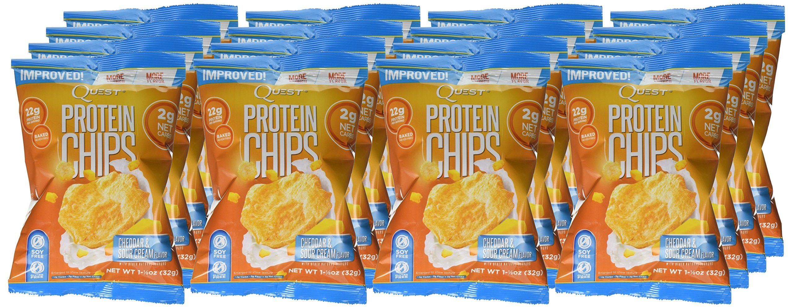 Quest Nutrition Protein Chips, Cheddar and Sour Cream, 16 Count by Quest Nutrition (Image #2)