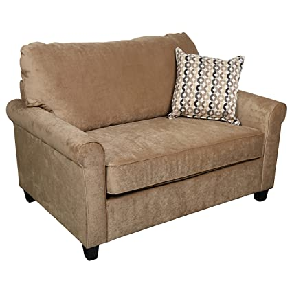 Delicieux Amazon.com: Porter Designs U1062 Serena Plush Microfiber Twin Sleeper Sofa  Khaki: Kitchen U0026 Dining