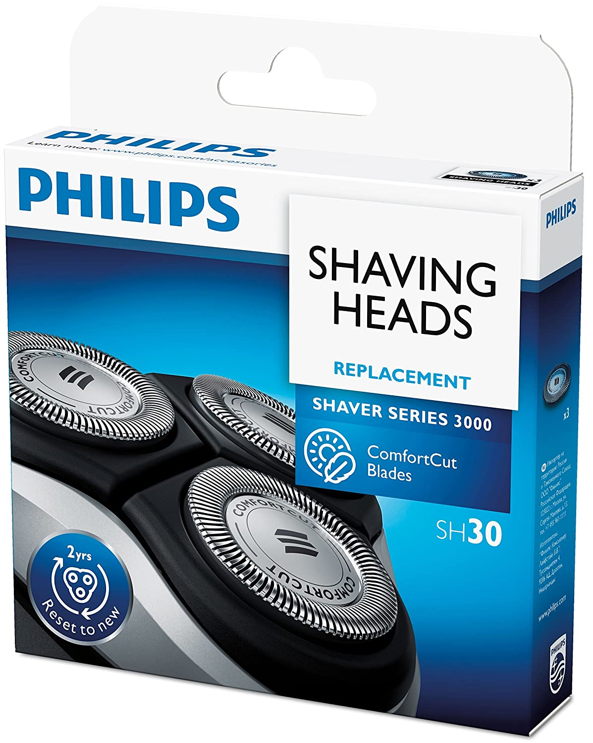 Philips Replacement Shaving Head 1000 Series (S1xxx) / 3000 Series (S3xxx) Pack 1 (3 Piece) [SH30/50]