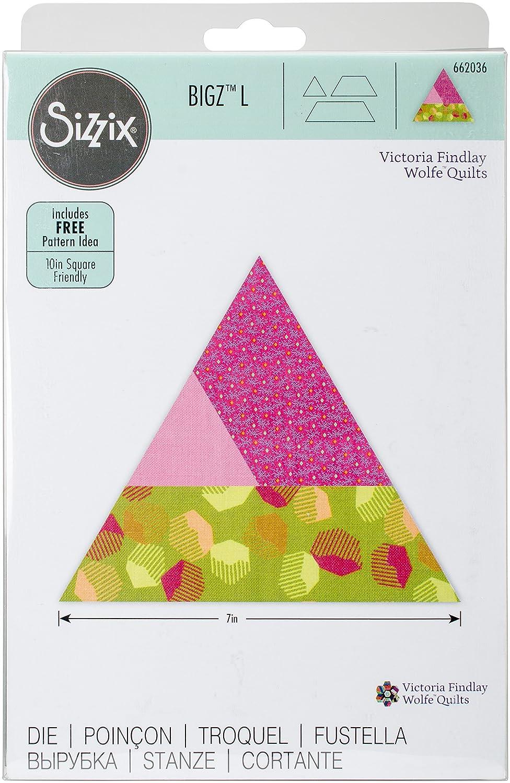 Sizzix Varied Triangle by Victoria Findlay Wolfe Quilts Bigz L Die Multi-Colour 24.1 x 15.4 x 1.9 cm Steel//Wood//Plastic