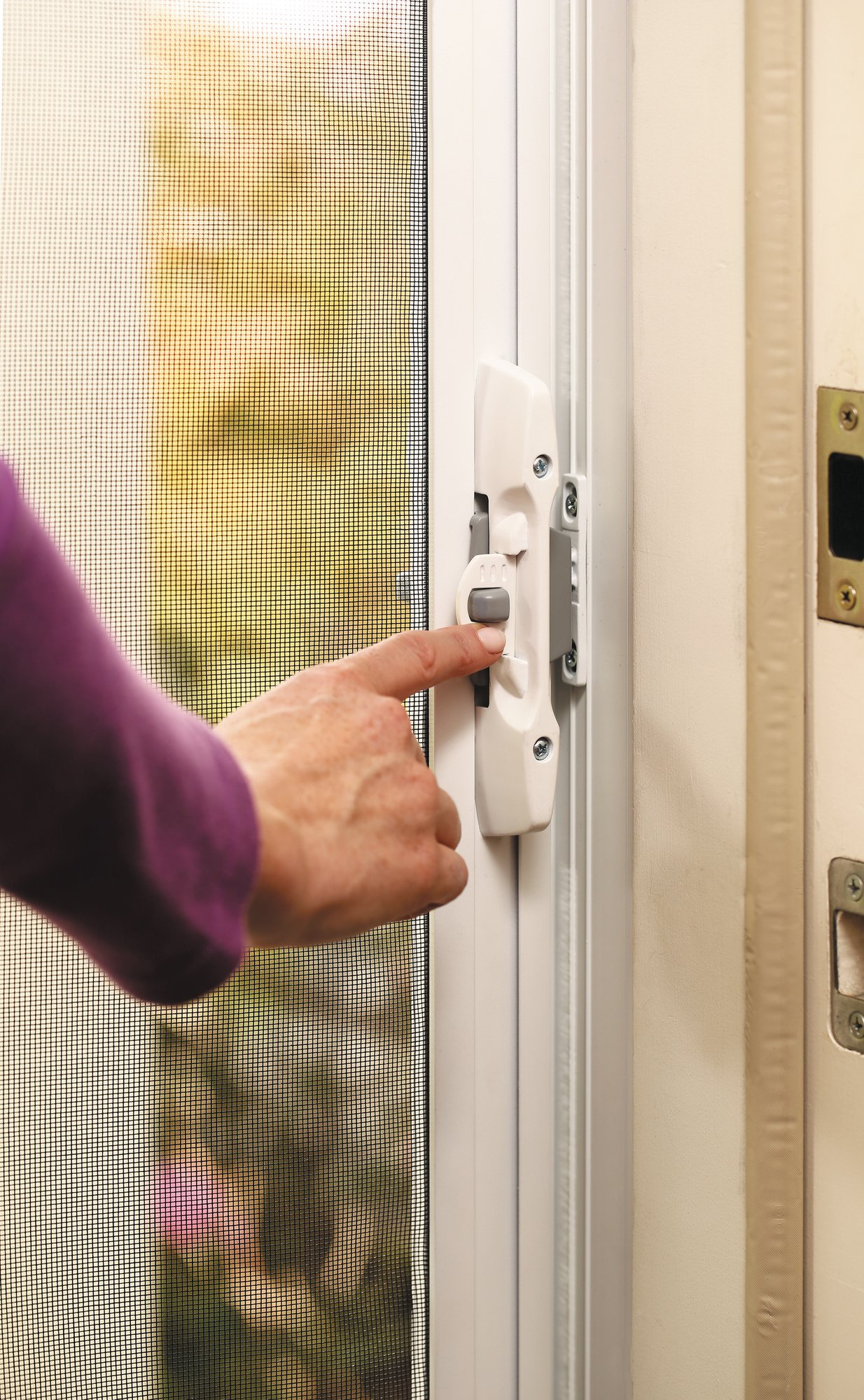 ODL Brisa Premium Retractable Screen for 78 in. Inswing/Outswing Hinged Doors - Bronze by ODL (Image #4)