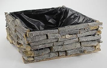 Holz Blumen Kasten Mit Kunststoff Folie 1 Stück Amazonde