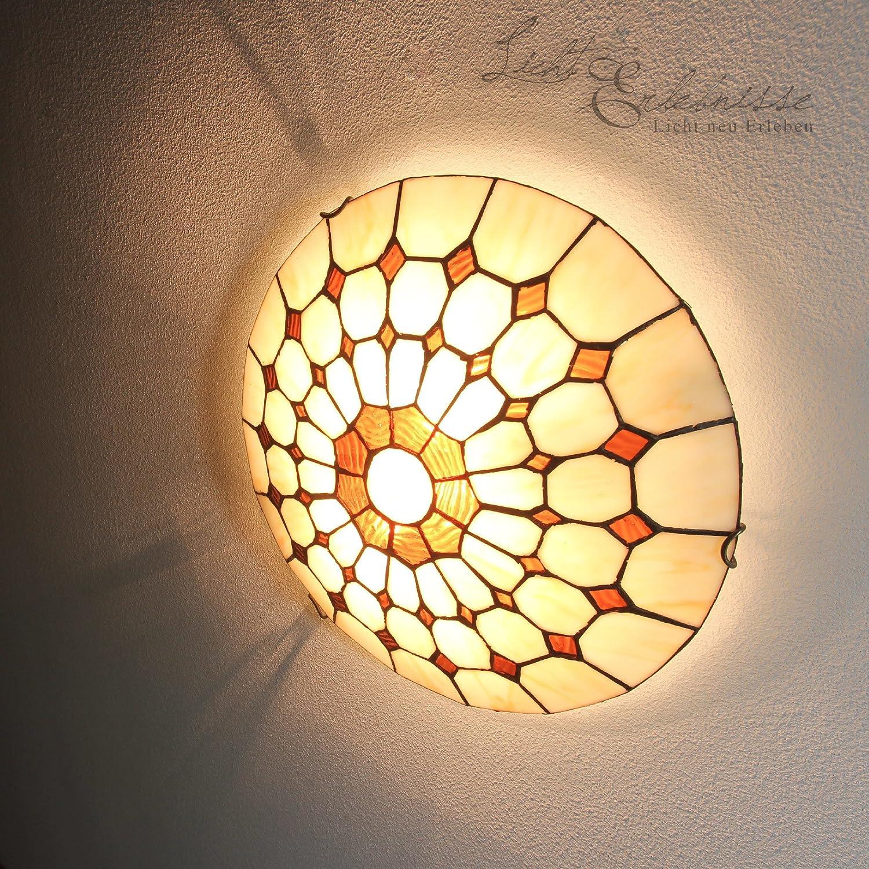 Schne Deckenleuchte Im Tiffany Stil Deckenlampe Jugendstil Amazonde Beleuchtung