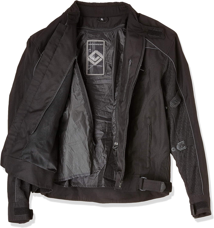 Hosen Motorradkombi Biker Motorrad Textil Kombi wasserdichte Jacke 3XL, Neon Orange
