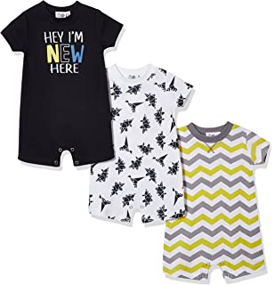 Silly Apples Baby Boy 3-Pack Short-Sleeve Romper