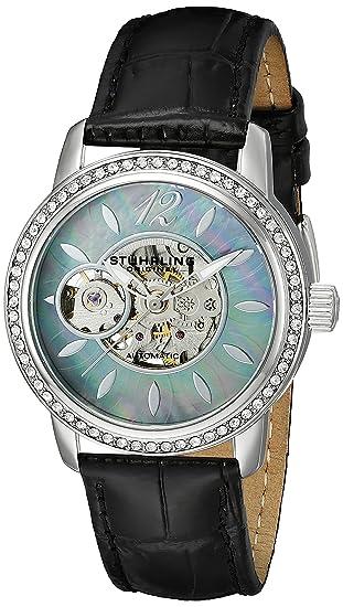 Stuhrling Original 856.02 - Reloj para mujer con movimiento cuarzo suizo, negro