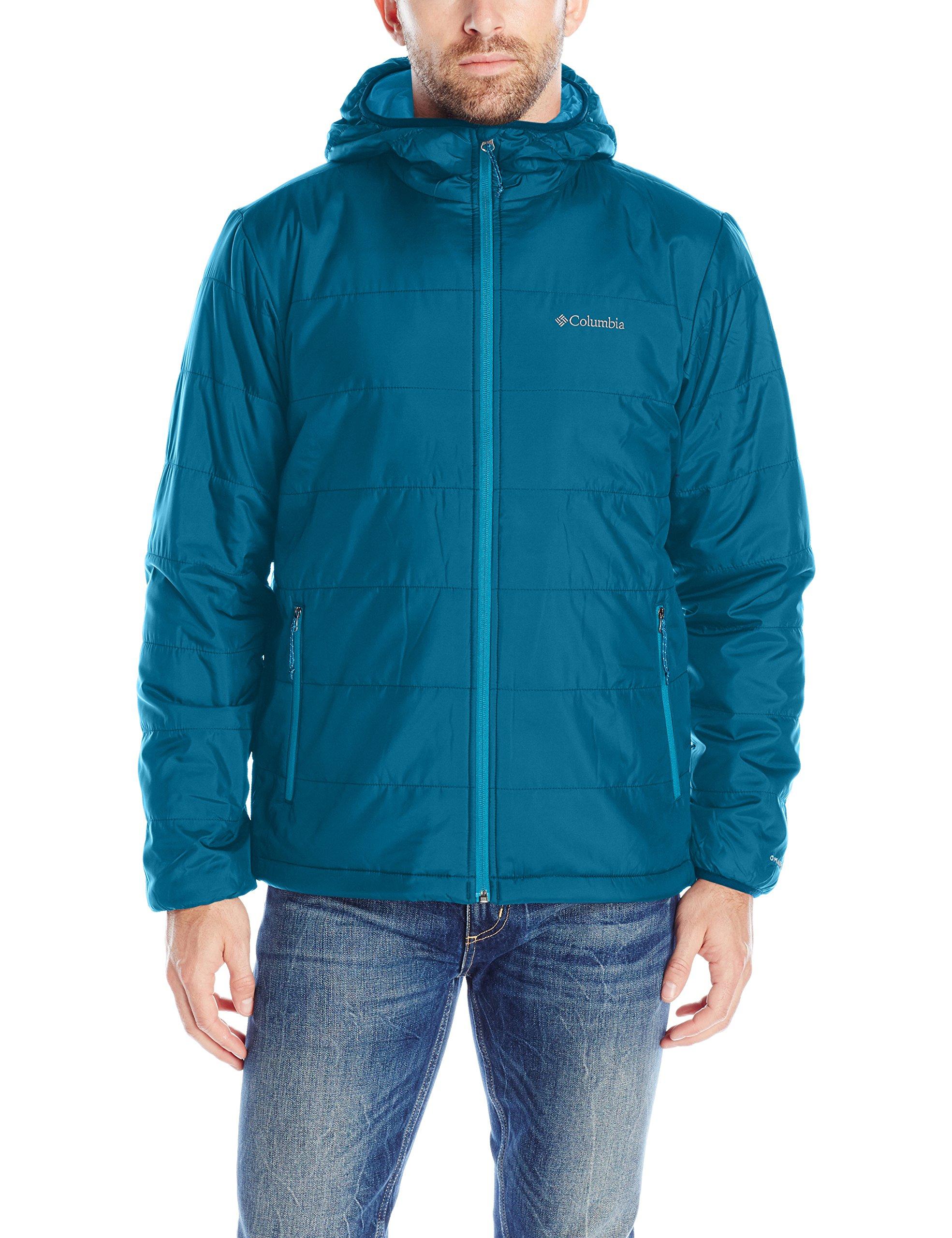 Columbia Men's Saddle Chutes Hooded Jacket, Large, Phoenix Blue