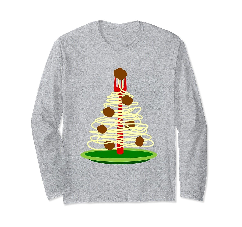 Italy Spaghetti Meatballs Christmas Long Sleeve T Shirt-alottee gift ...