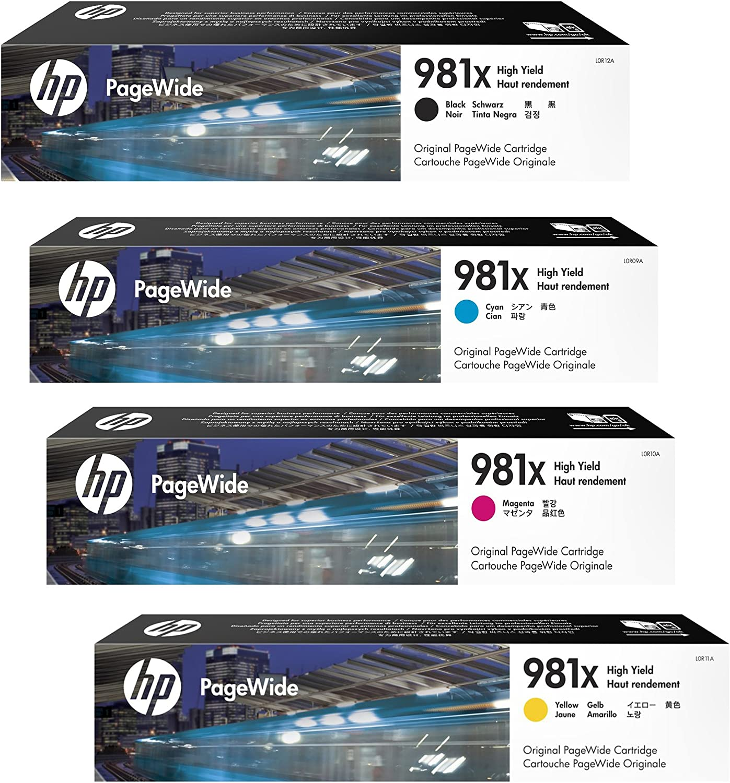 HP 981X Original PageWide Cartridge 4-Color Set