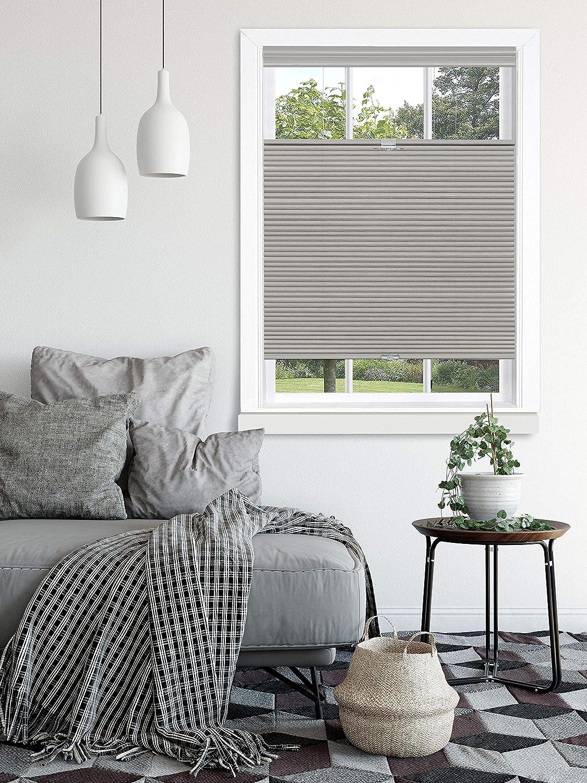 "Achim Home Furnishings, Dove Grey Top Down-Bottom Up Cordless Honeycomb Cellular Shade, 33""x64"", 33"" x 64"""