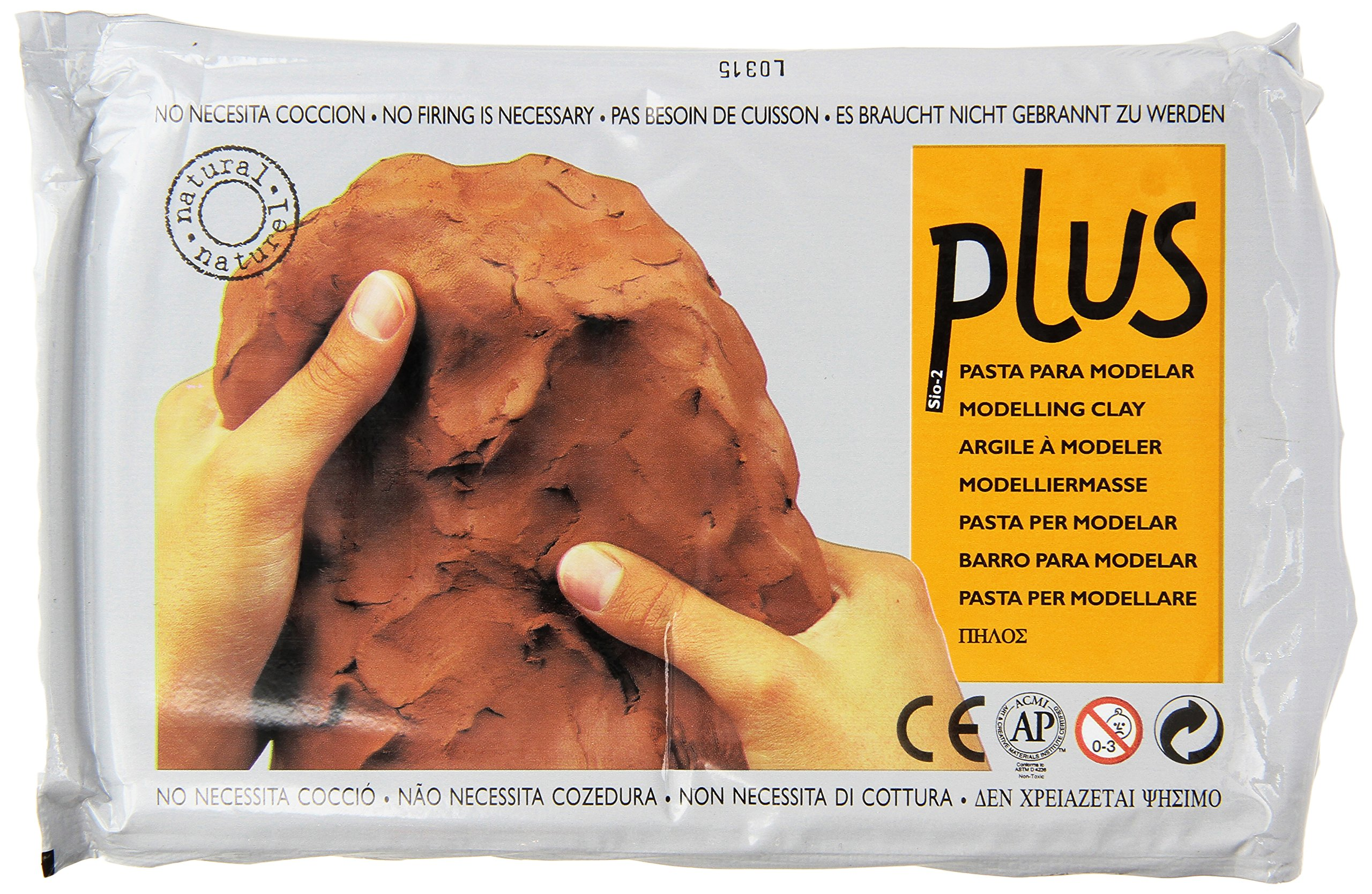 ACTIVA Plus Clay Natural Self-Hardening Clay Terra Cotta 2.2 pounds by Activa