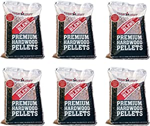 Camp Chef Smoker Grill Competition Blend Hardwood Pellets, 20 lbs (6 Pack)