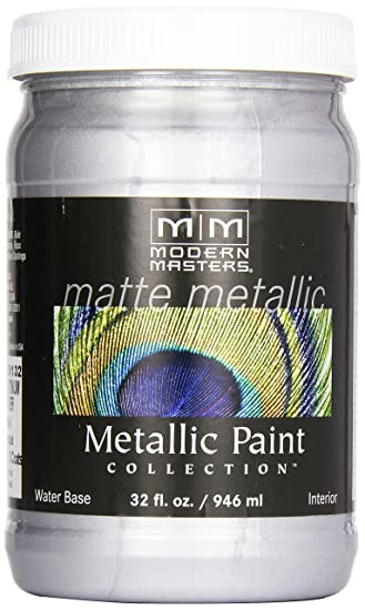 Modern Masters Mm591 Matte Metallic Paint Platinum Silver Quart