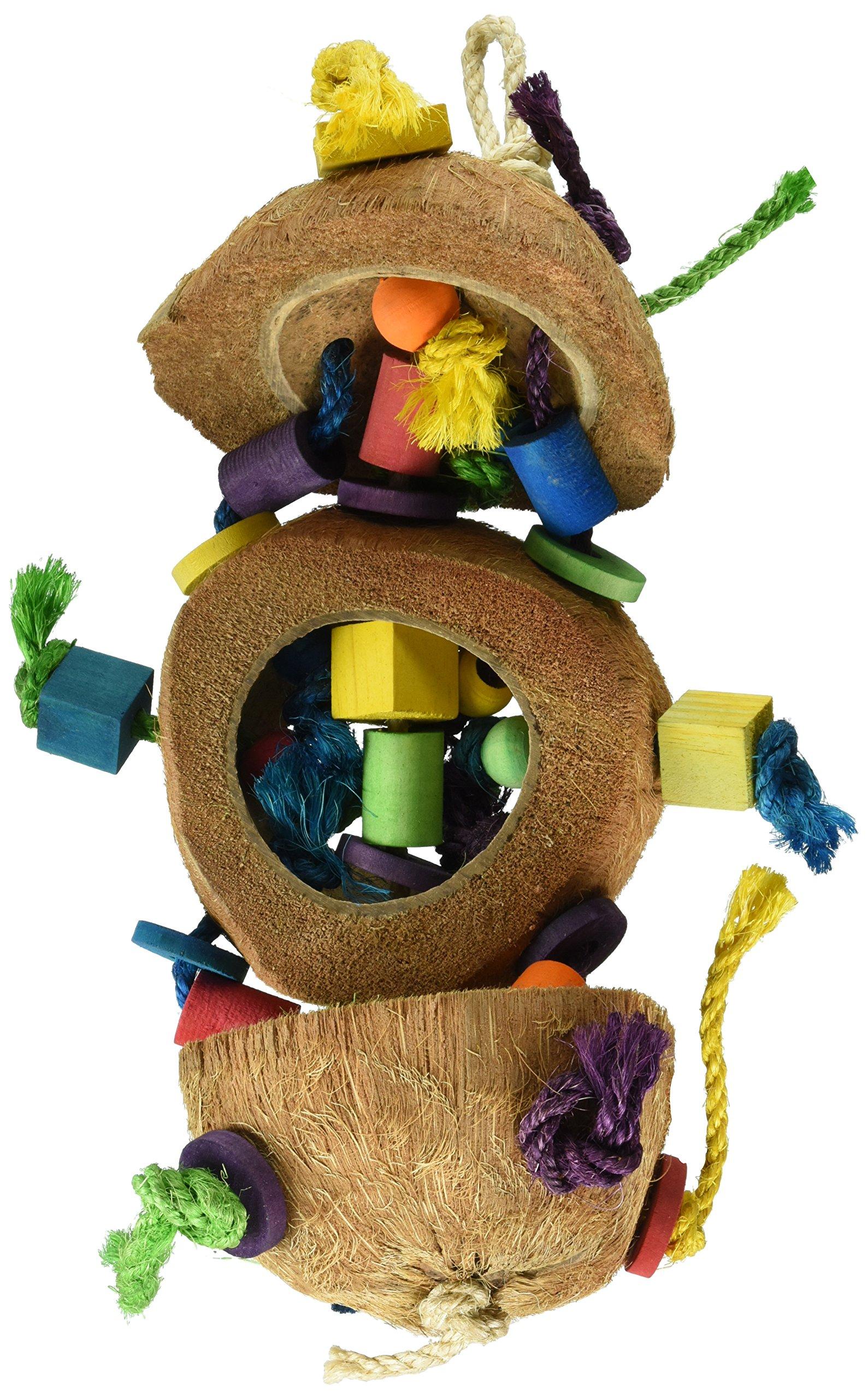 Penn Plax BA1870 Coconut Kabob with Wood & Sisal Pet Collar by Penn Plax