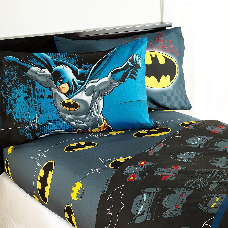 Warner Brothers Batman /'Guardian Speed/' Kids Sheet Set Size Twin 3 piece Set