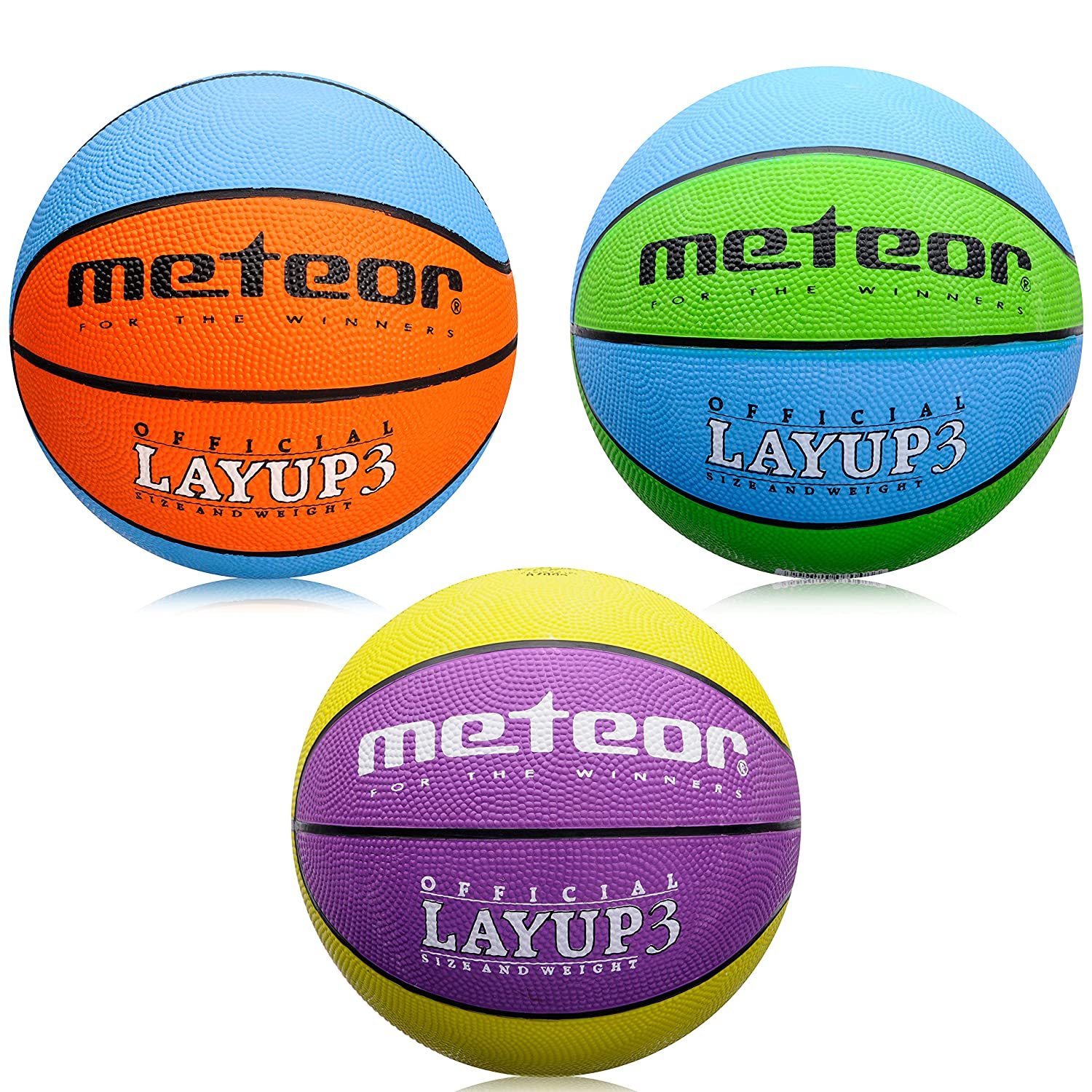 22fc83d23d3 meteor Basketball Ball - Size 3 ideal for children Layup  Children   Youth  - 4 to 8 Years Perfect for Training Soft Basketball Basketball With  Non-Slip ...