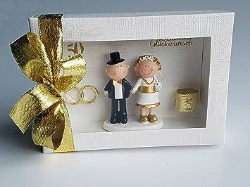 Der Kleine Dekoladen Geldgeschenk Goldene Hochzeit Brautpaar