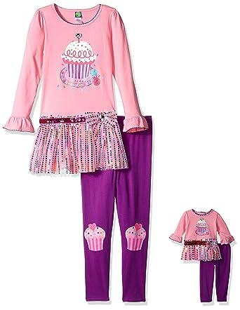 61598830b8a Dollie   Me Big Girls  Knit Tutu Cupcake Birthday Dress with Knit Legging