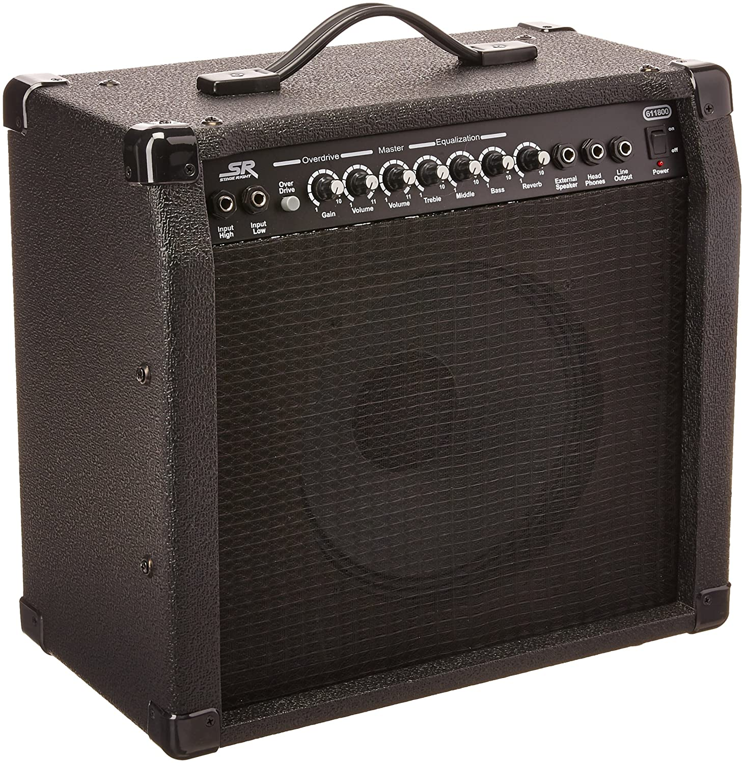 Monoprice 100-Watt 10x100 Guitar Combo Amplifier - Black with Spring Reverb,  100 inch 10-ohm Speaker, High & Low Inputs, Headphone Output For Electric