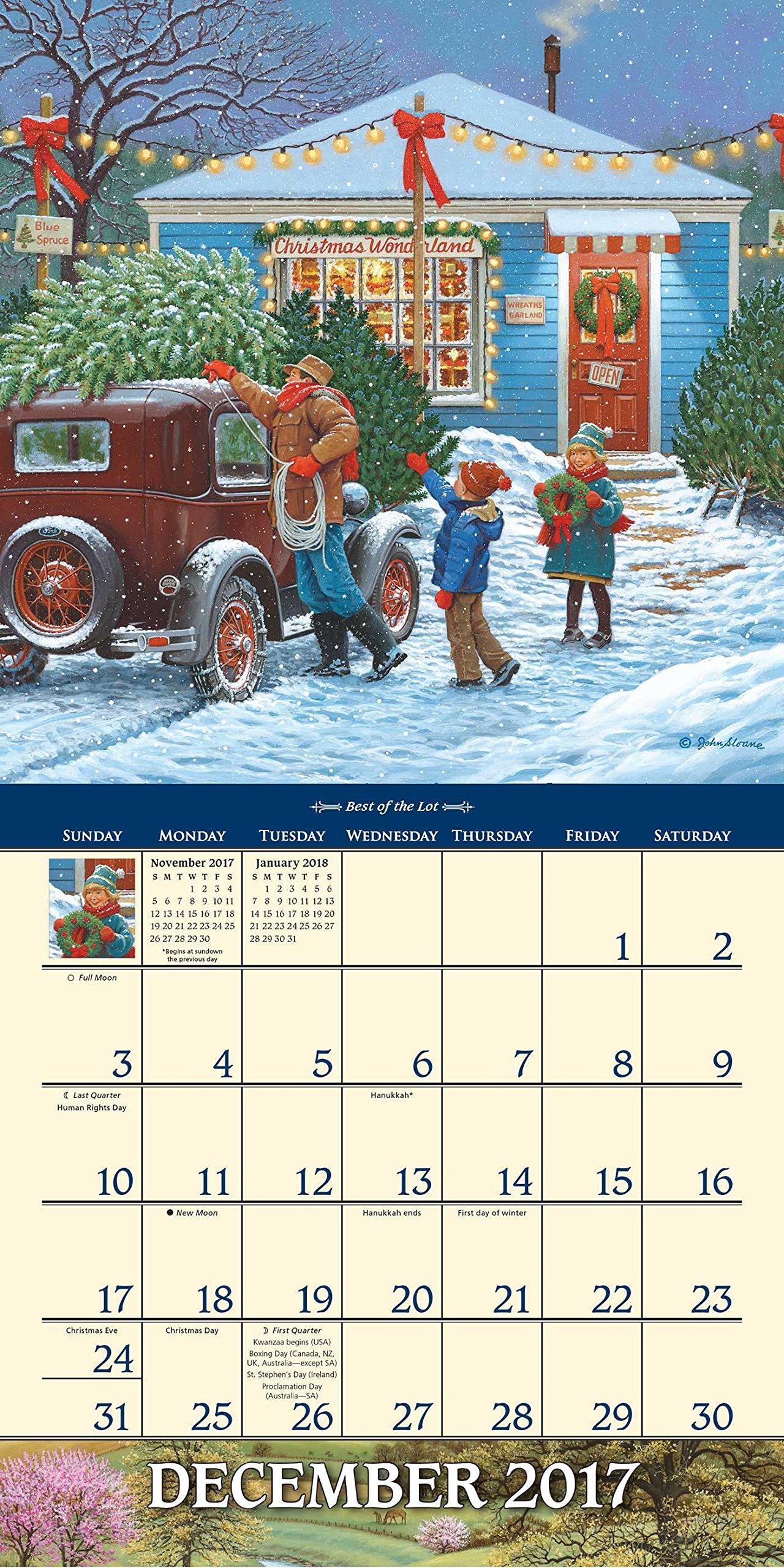 John Sloane s Country Seasons 2017 Mini Wall Calendar John Sloane