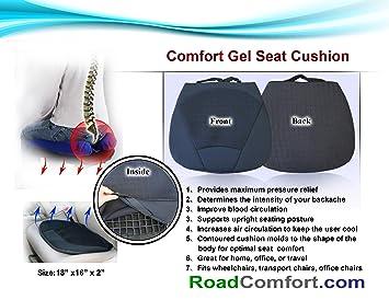 Amazon.com: Extreme ortopédico Gel Cojín de asiento para ...