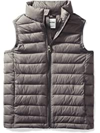 Amazon Essentials boys Water-Resistant Packable Puffer Vest