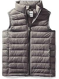 Amazon Essentials boys Water-Resistant Packable Puffer Vest