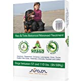 Arava Flea & Tick Control Drops Treatment for Dogs (4-Doses) - Natural, Aromatherapy Medicated. Repels Pests with Natural Oils - Safe on Skin and Coats - Enhanced Defense & Prevention (3 Variations)