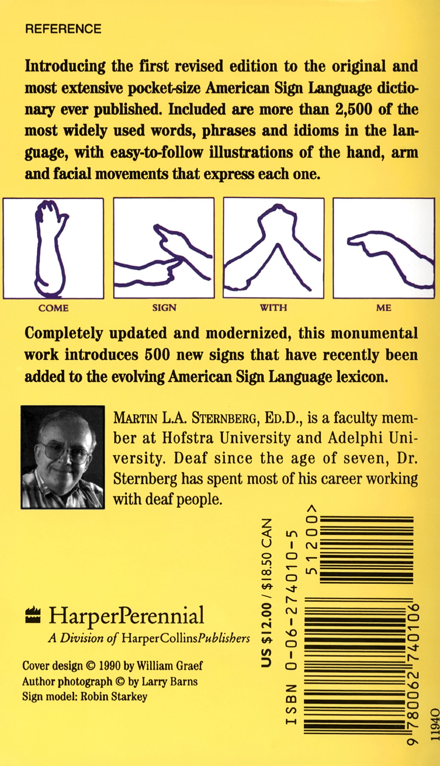 American Sign Language Concise Dictionary: Revised Edition by Harris Communications