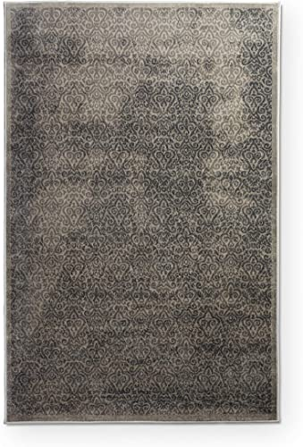 Classic Design Rectangular Area Rug in Gray and Charcoal 7 ft. 6 in. L x 5 ft. W